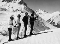 Familie Satzger im Arlberg-Winter 1963